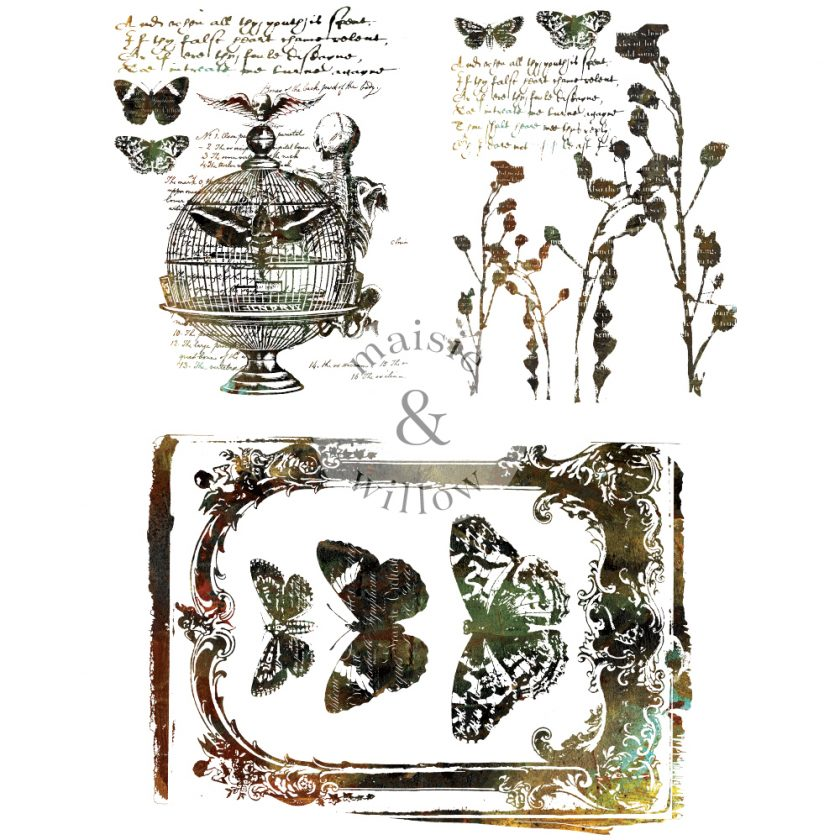 "Maisie & Willow Transfers® - Steampunk II - 2 sheets, total design size 16""x23"""