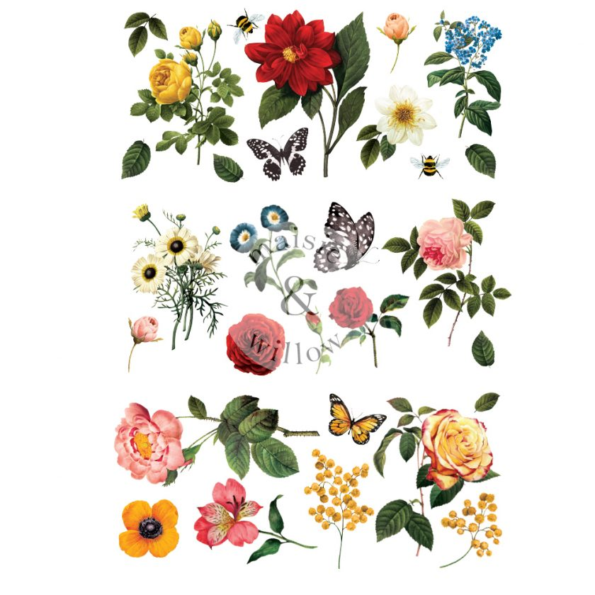 """Maisie & Willow Transfers® - Majestic Garden - 3 sheets, total design size 16""""x23"""""""