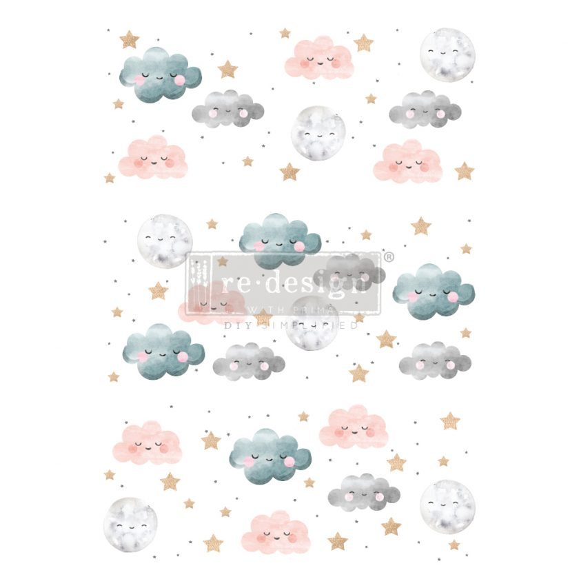 """Redesign Decor Transfers® - Sweet Lullaby - total sheet size 24""""x35"""", cut into 3 sheets"""