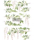 """Redesign Decor Transfers® - Spring Branch - total sheet size 24""""x35"""", cut into 3 sheets"""