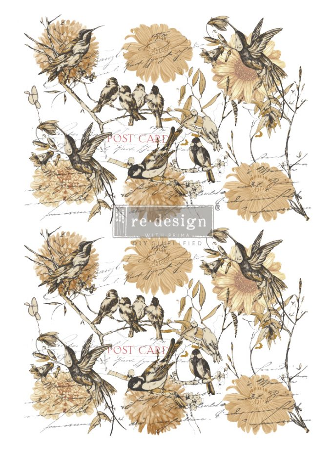 """Redesign Decor Transfers® - Vintage Rustic - total sheet size 24""""x35"""", cut into 3 sheets"""