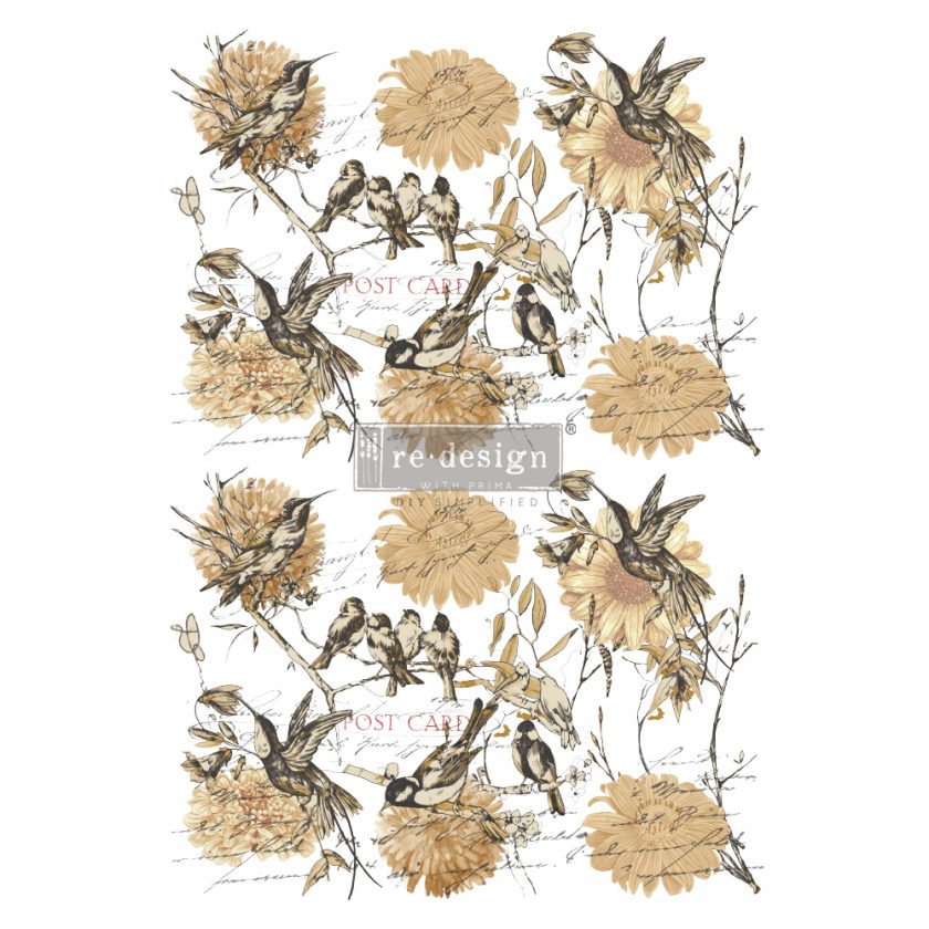 "Redesign Decor Transfers® - Vintage Rustic - total sheet size 24""x35"", cut into 3 sheets"
