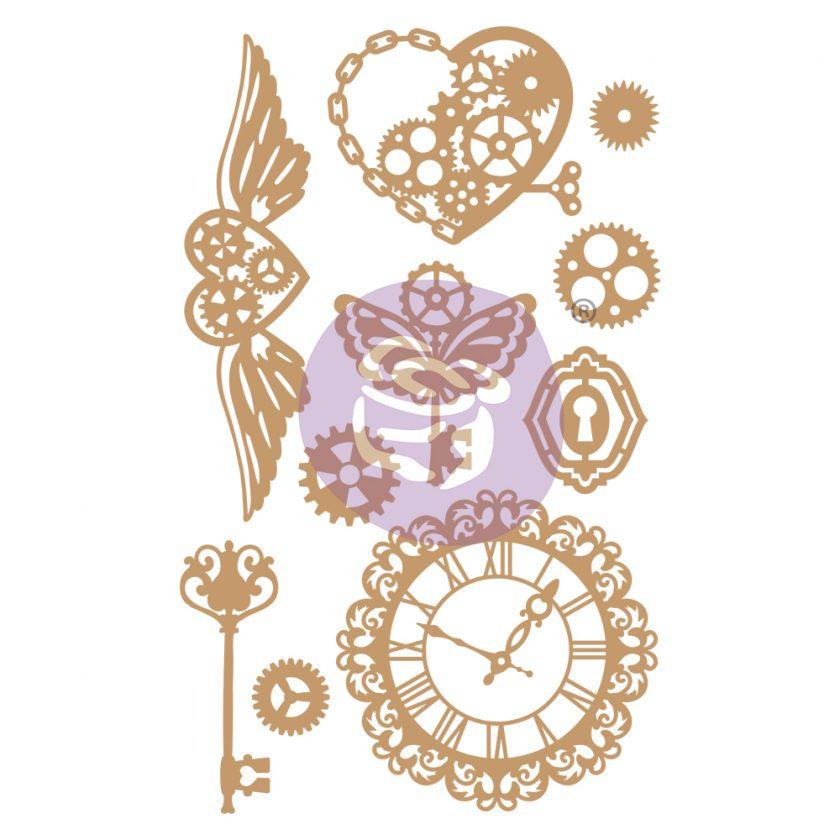 Chipboard Diecut - Mechanical Dreams - 10 pcs, 0.75-4.7