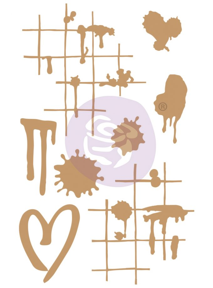 Chipboard Diecut - Ink & Splatters - 8 pcs, 1-3.5