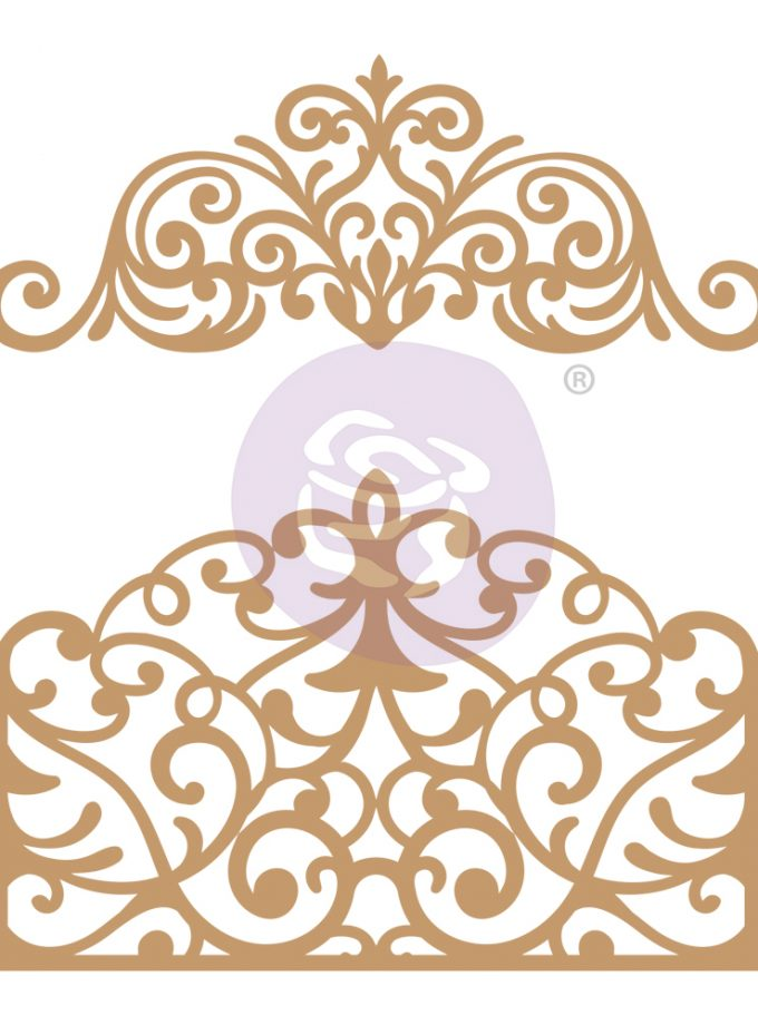 Chipboard Diecut - Flourish Gate - 2 pcs, 1.8- 4.75
