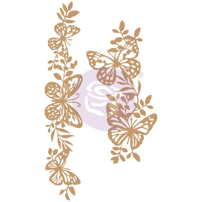 Chipboard Diecut - Butterfly Borders - 2 pcs, 5.5-7.6