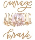 Chipboard Diecut - Words to Live By - 3 pcs, 4.5-4.8