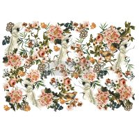 """Redesign Decor Transfers® - Elegance & Flowers - total sheet size 48""""x35"""", cut into 6 sheets"""