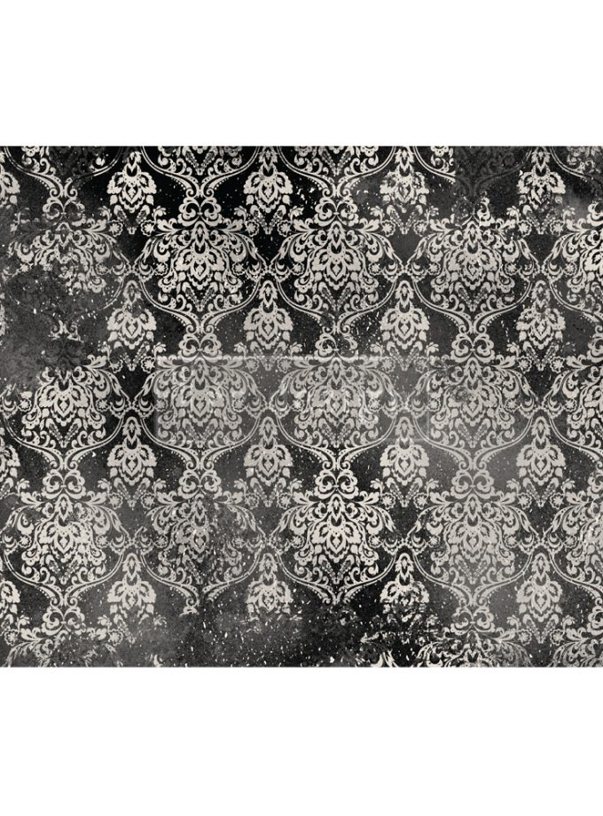 "Redesign Decoupage Décor Tissue Paper - Dark Damask - 2 sheets (19"" x 30"")"