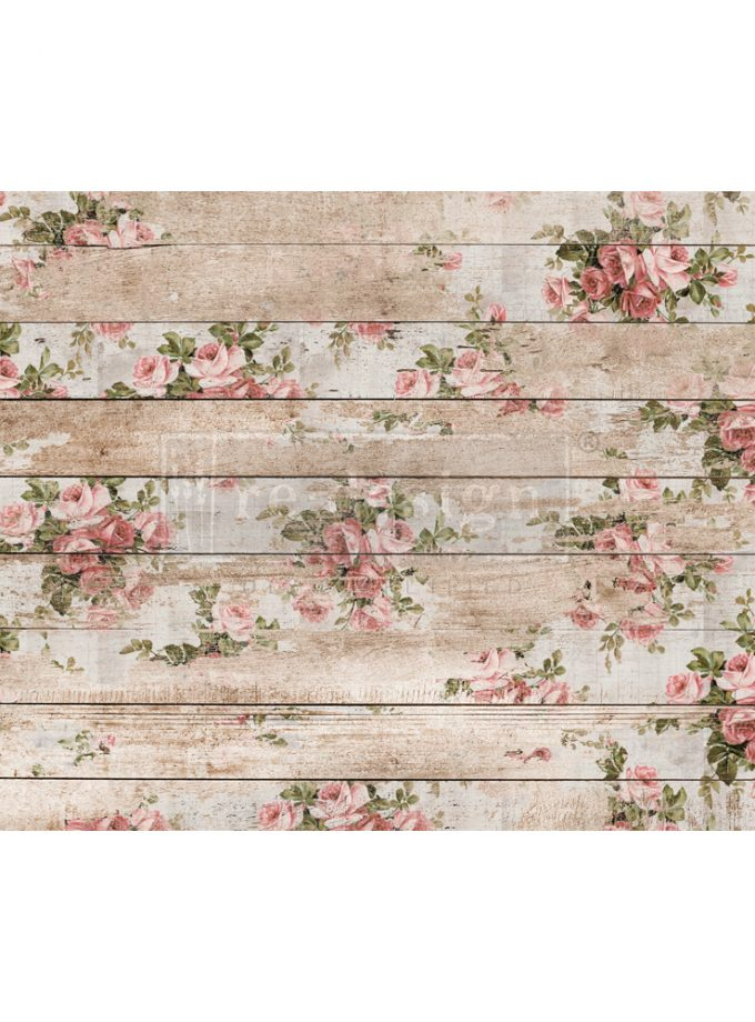 "Redesign Decoupage Decor Tissue Paper - shabby floral - 2 sheets (19"" x 30"")"