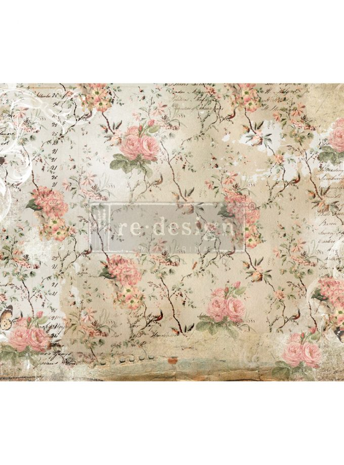 "Redesign Decoupage Décor Tissue Paper - Botanical Imprint - 2 sheets (19"" x 30"")"