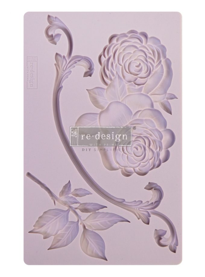 "Redesign Decor Moulds® - Victorian Rose - 8""x5"", 8mm thickness"