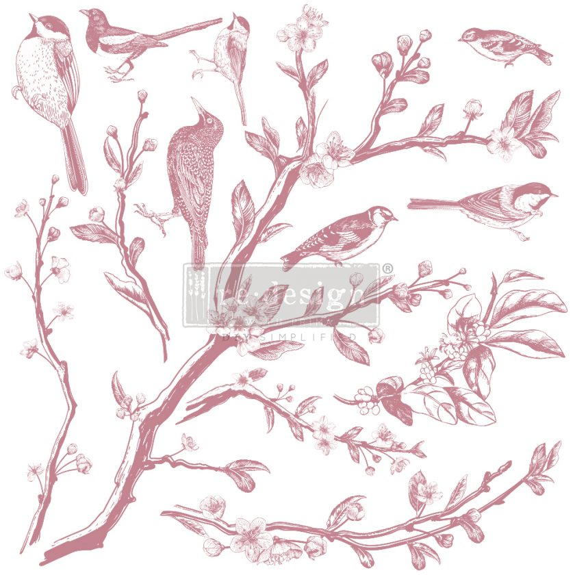Redesign Decor Clear-Cling Stamps - Springtime - 12x12 clear cling