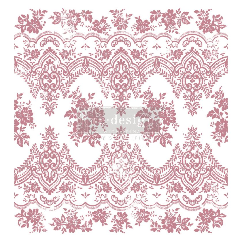 Redesign Decor Clear-Cling Stamps - Vintage Wallpaper - 12x12 clear cling