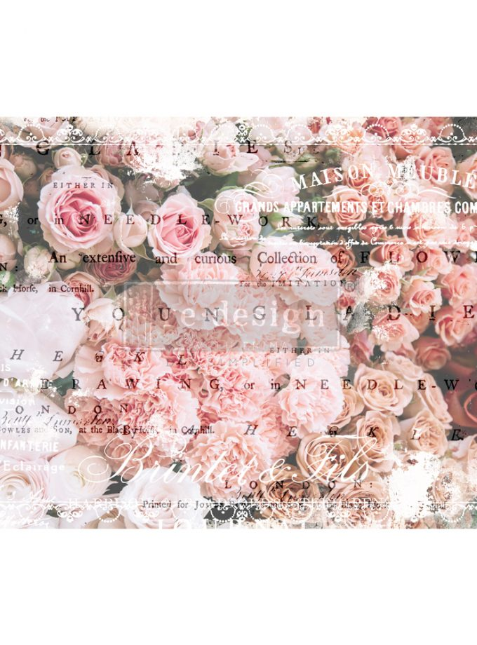 "Redesign Decoupage Décor Tissue Paper - Angelic Rose Garden - 2 sheets (19"" x 30"")"