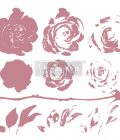 Redesign Decor Clear-Cling Stamps - Mystic Rose - 12x12 clear cling