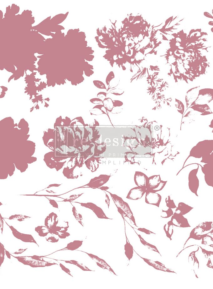 Redesign Decor Clear-Cling Stamps - Sweet Blossoms - 12x12 clear cling
