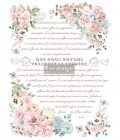 """Redesign Decor Transfers® - Pure Light Floral - total sheet size 24""""x35"""", cut into 3 sheets"""