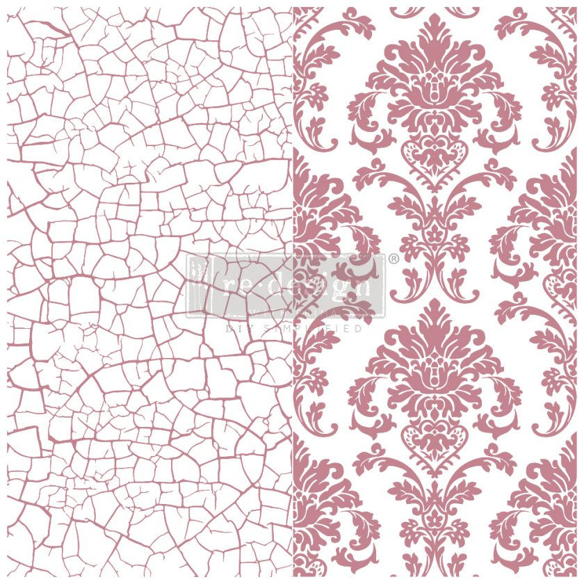 Redesign Decor Clear-Cling Stamps - Imperial Crackle - 12x12 clear cling