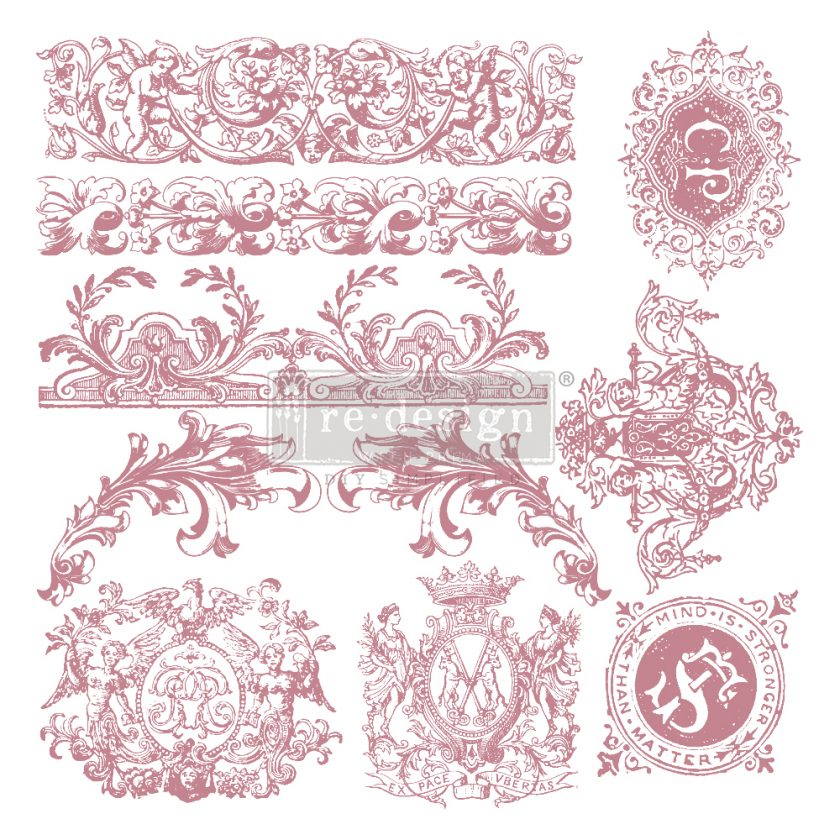 Redesign Decor Clear-Cling Stamps - Chateau De Saverne - 12x12 clear cling