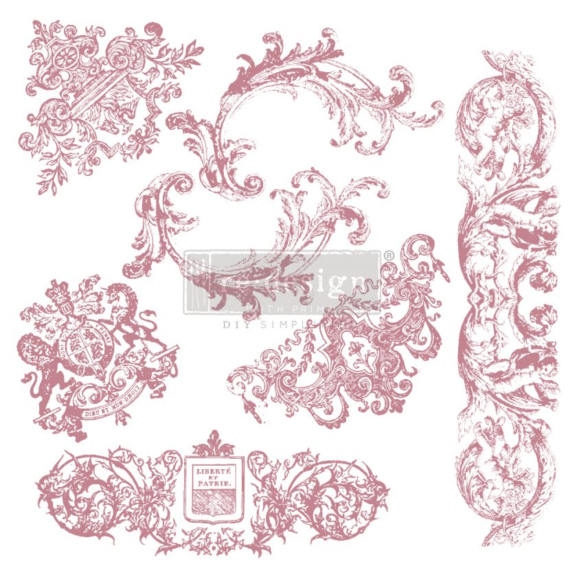 Redesign Decor Clear-Cling Stamps - Chateau De Maisons - 12x12 clear cling