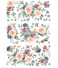 """Redesign Decor Transfers® - Watercolor Bloom - total sheet size 24""""x35"""", cut into 3 sheets"""