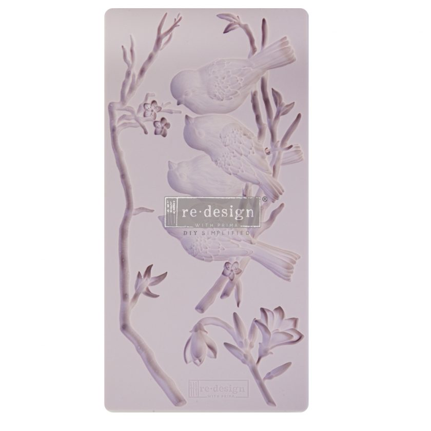 """Redesign Decor Moulds® - Avian Love - 5""""x10"""", 8mm thickness"""