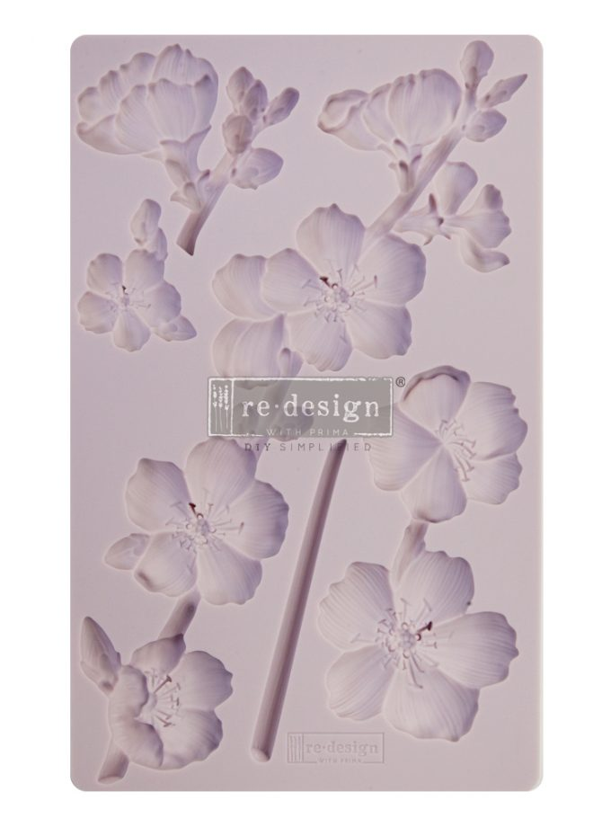 "Redesign Decor Moulds® - Botanical Blossoms - 8""x5"", 8mm thickness"