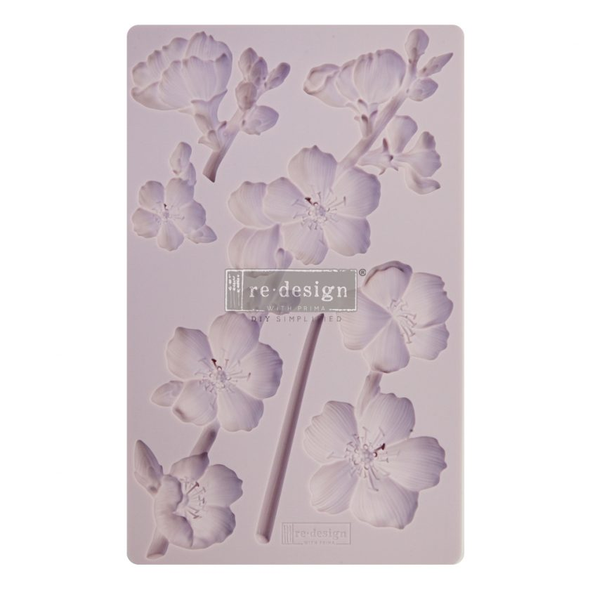 """Redesign Decor Moulds® - Botanical Blossoms - 8""""x5"""", 8mm thickness"""