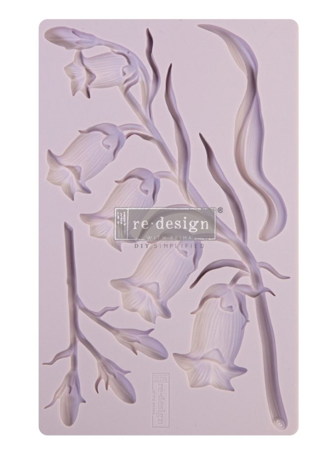 "Redesign Decor Moulds® - Sweet Bellflower - 8""x5"", 8mm thickness"
