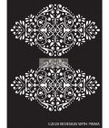 "Redesign Decor Stencils®  -Dotted Flourish - 9""x13.5""  0.8mm thickness"
