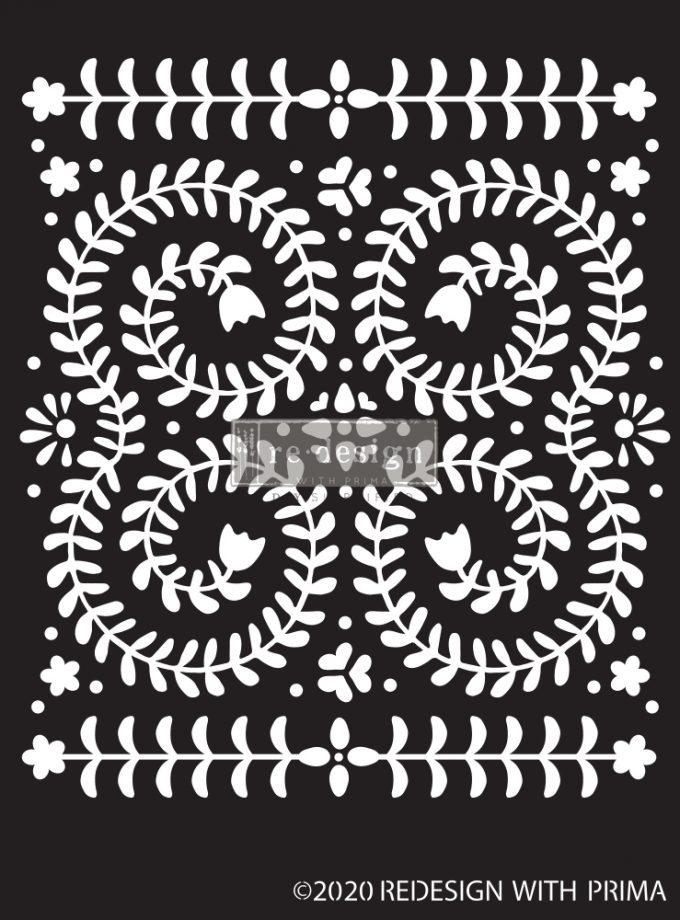 "Redesign Decor Stencils®- Elegant Vine - 9""x13.5"", 0.8mm thickness"
