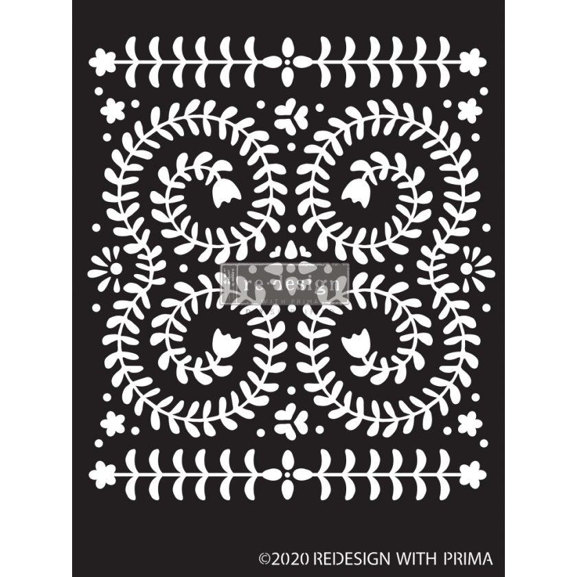 "Redesign Decor Stencils®- Elegant Vine - 9""x13.5"", 0.8mm thickness"