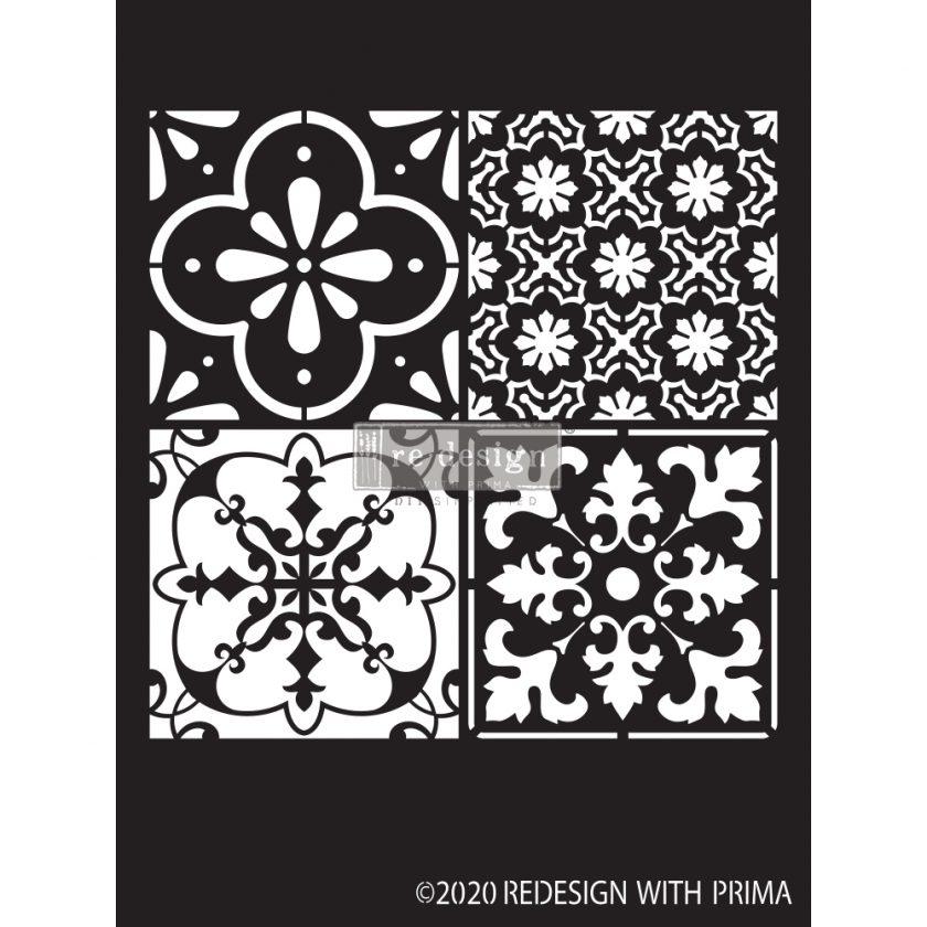 "Redesign Decor Stencils® - Coastal Tile - 9""x13.5"", 0.8mm thickness"