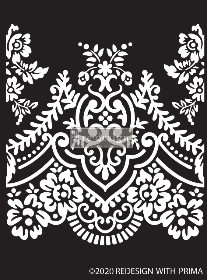 "Redesign Decor Stencils®  - Elegant Lace - 9""x13.5"", 0.8mm thickness"