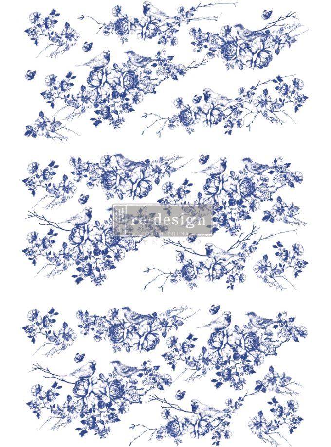 "Redesign Decor Transfers® - Peaceful Flight - total sheet size 24""x35"", cut into 3 sheets"