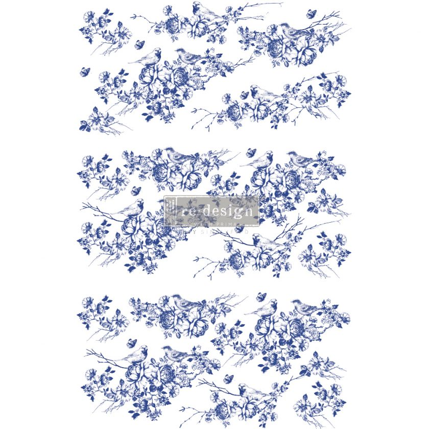 """Redesign Decor Transfers® - Peaceful Flight - total sheet size 24""""x35"""", cut into 3 sheets"""