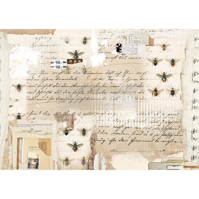 """Redesign Decor Rice Paper - Mysterious notes - 11.5"""" x 16.25"""""""