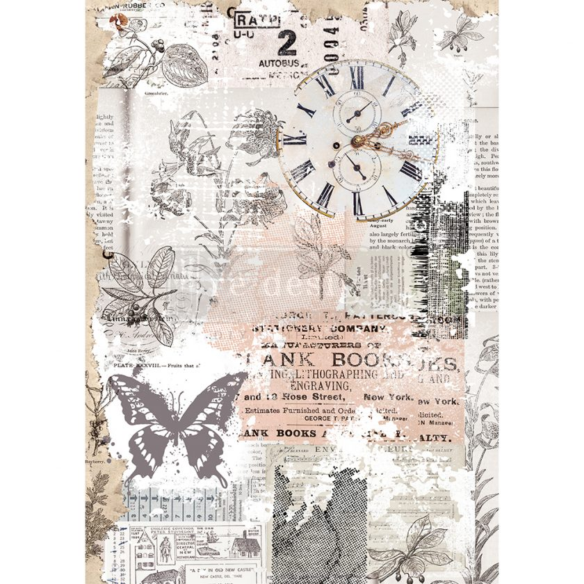 "Redesign Decor Rice Paper - Herb's memory - 11.5"" x 16.25"""