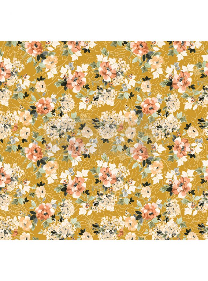 "Redesign Decor Rice Paper - Fleurette dress - 11.5"" x 16.25"""