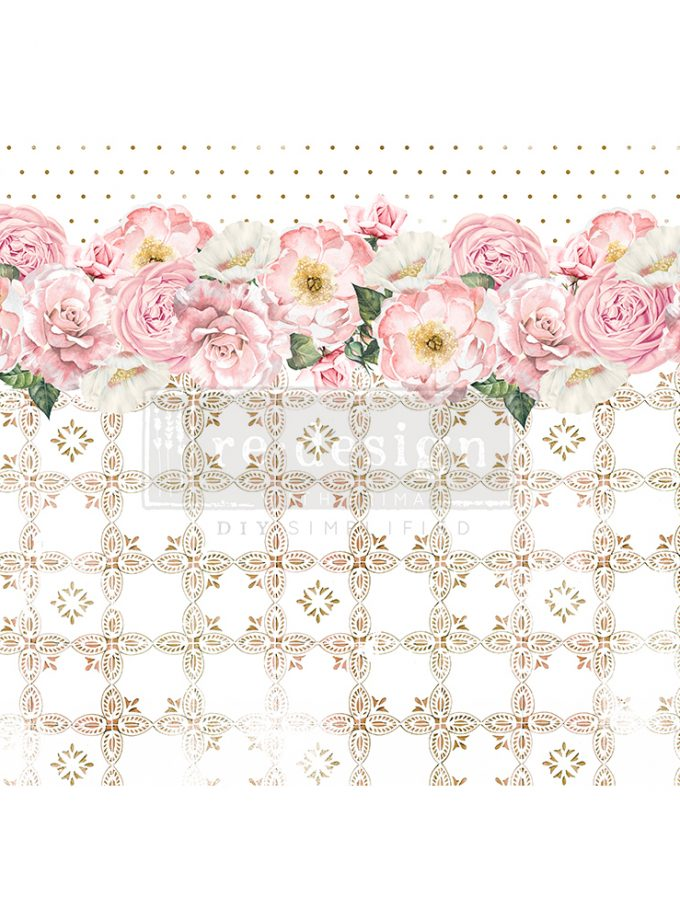 "Redesign Decor Rice Paper - Tranquil bloom - 11.5"" x 16.25"""