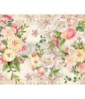 "Redesign Decor Rice Paper - Amiable roses - 11.5"" x 16.25"""