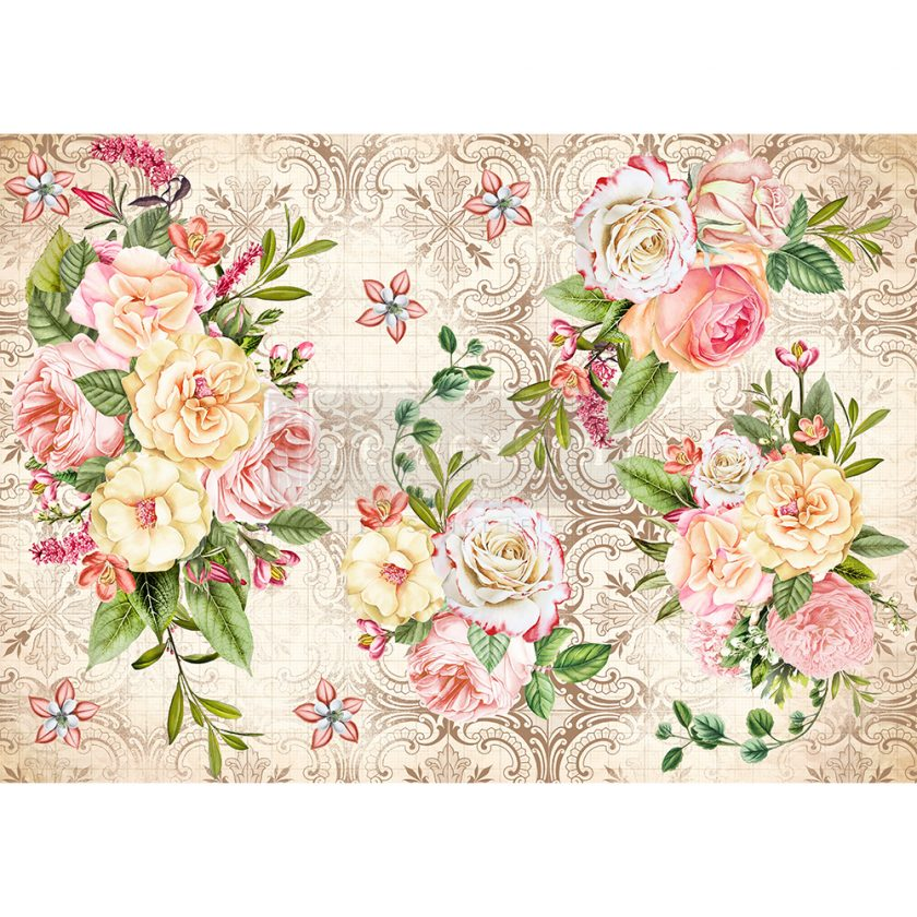 """Redesign Decor Rice Paper - Amiable roses - 11.5"""" x 16.25"""""""