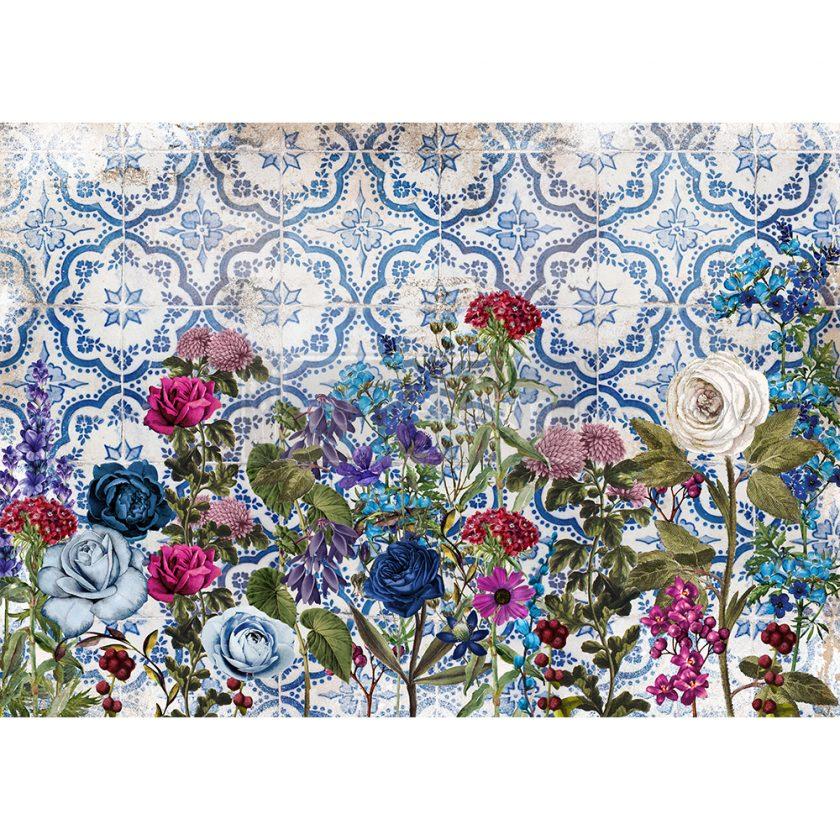"Redesign Decor Rice Paper - Moonlight garden - 11.5"" x 16.25"""
