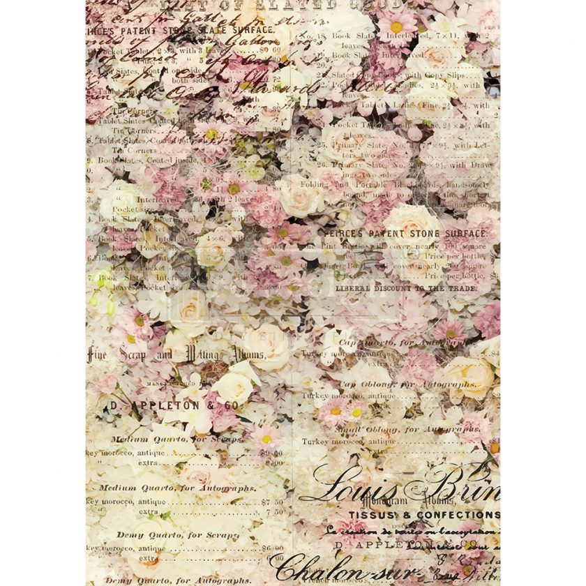 "Redesign Decor Rice Paper - Floral & dream - 11.5"" x 16.25"""