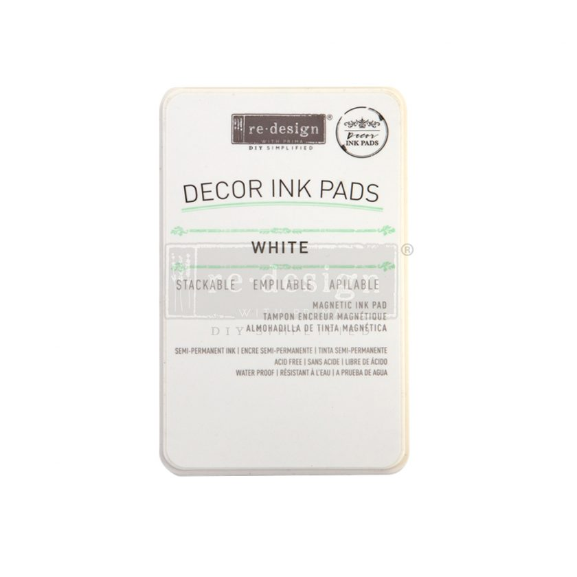 Redesign Decor Ink Pad - White - magnetic ink pad