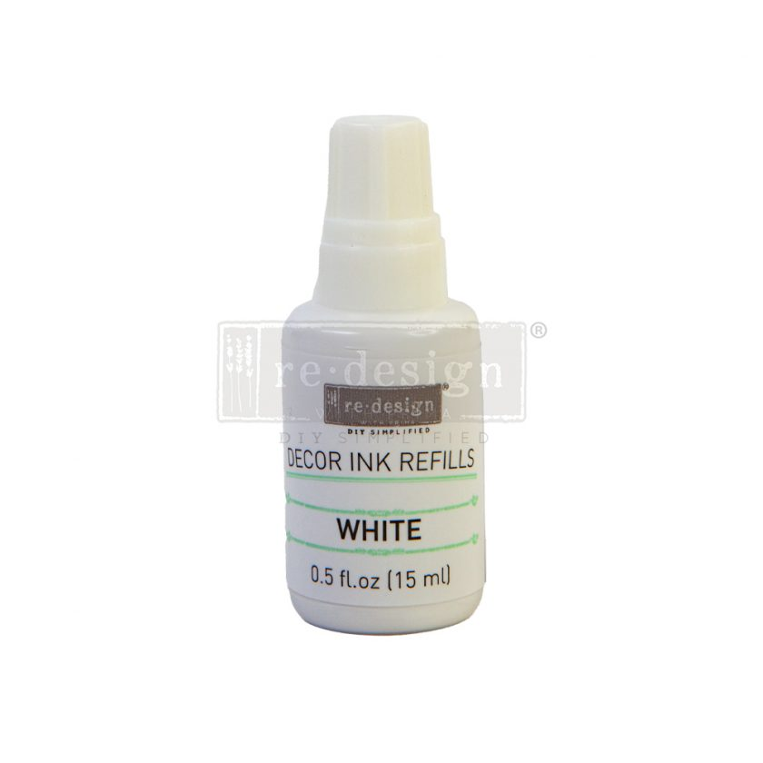 Redesign Decor Ink Refill - White - 0.5 oz refill