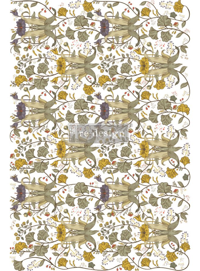 "Redesign Decor Transfers® - Antonia - total sheet size 24""x35"", cut into 2 sheets"