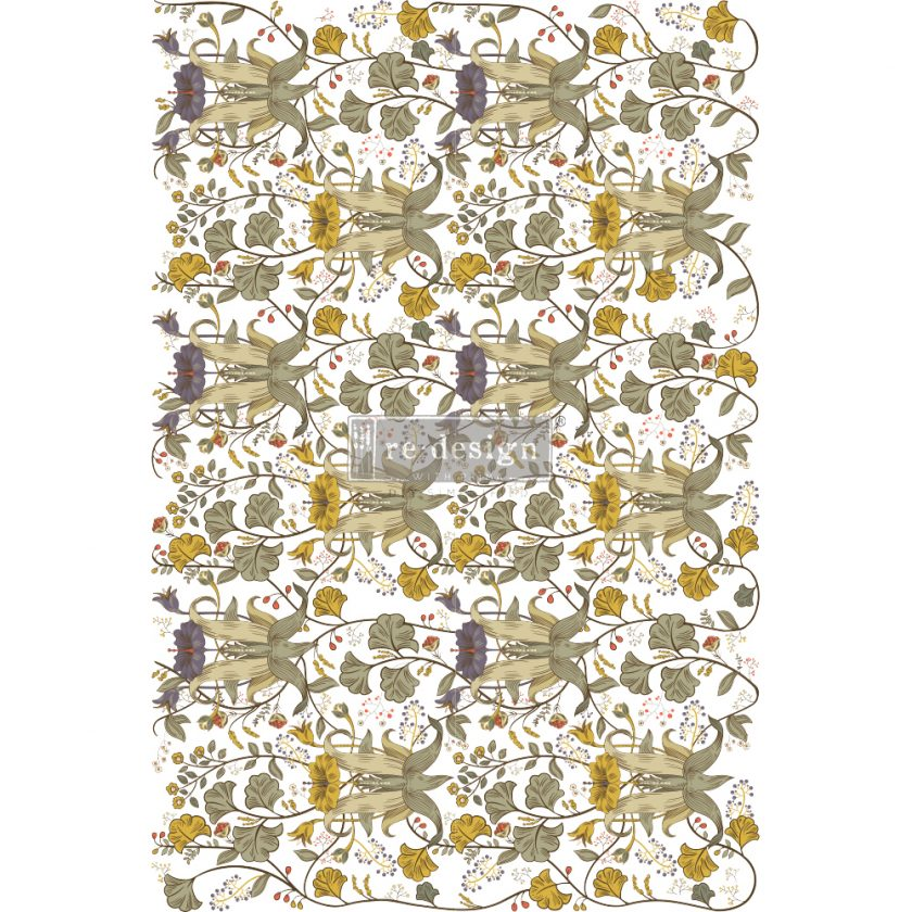"""Redesign Decor Transfers® - Antonia - total sheet size 24""""x35"""", cut into 2 sheets"""