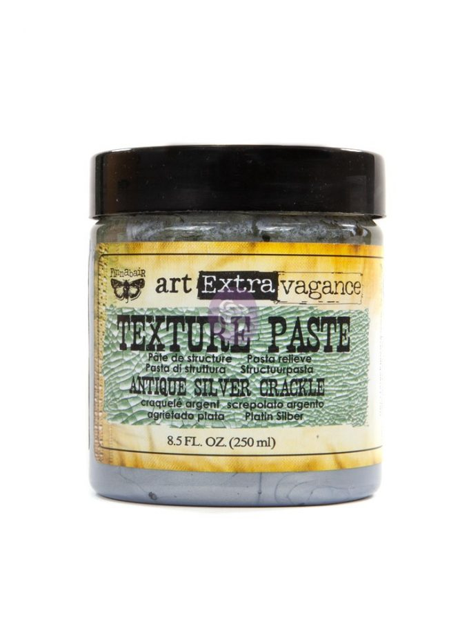 Art Extravagance- Texture Paste - Antique Silver Crackle 8.45oz (250ml)